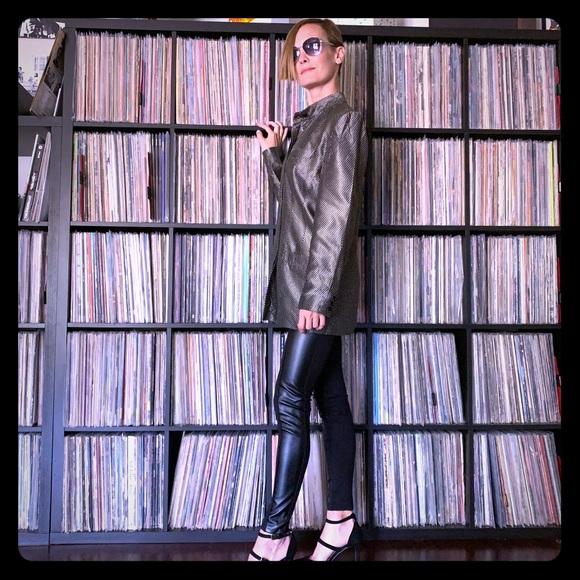 Vintage Jackets & Blazers - Liz Claiborne vintage metallic 80s 90s Jacket